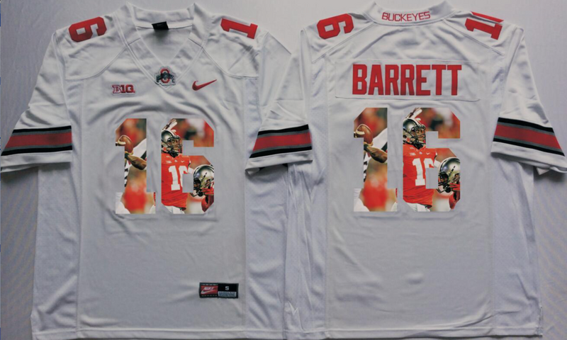 2016 NCAA Ohio State Buckeyes 16 Barrett White Fashion Edition Jerseys