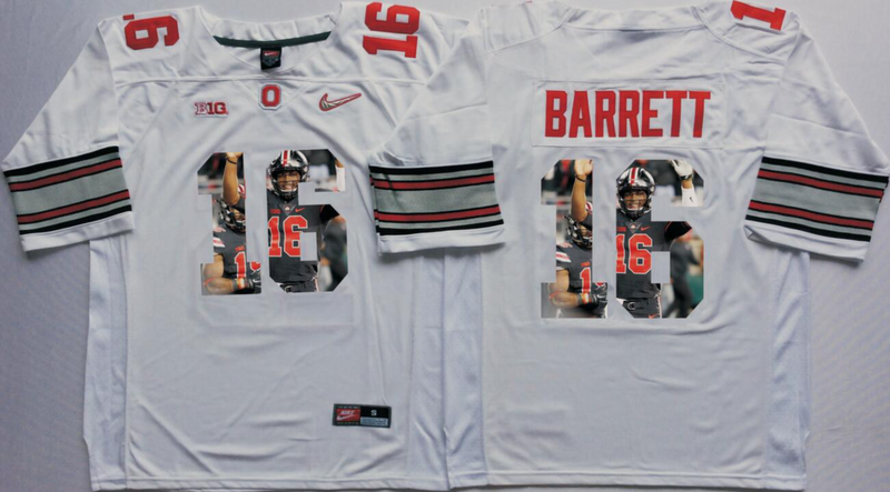 2016 NCAA Ohio State Buckeyes 16 Barrett White Fashion Edition Jerseys1