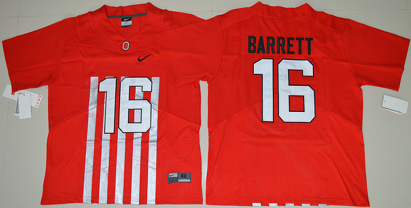 2016 NCAA Ohio State Buckeyes 16 J.T Barrett Red College Football Alternate Elite Jersey