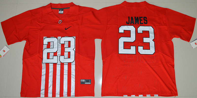 2016 NCAA Ohio State Buckeyes 23 Lebron James Red College Football Alternate Elite Jersey