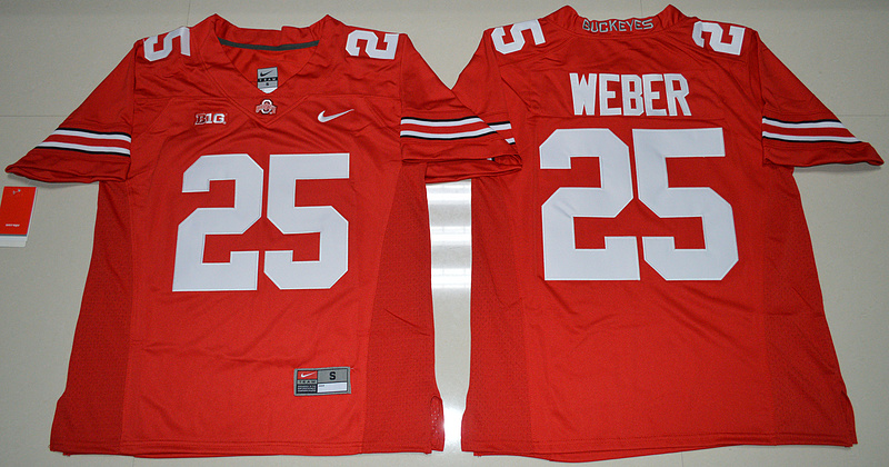 2016 NCAA Ohio State Buckeyes 25 Mike Weber Red College Football Jersey