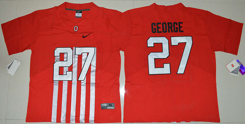 2016 NCAA Ohio State Buckeyes 27 Eddie George Red College Football Alternate Elite Jersey