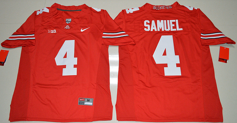 2016 NCAA Ohio State Buckeyes 4 Curtis Samuel Red College Football Jersey