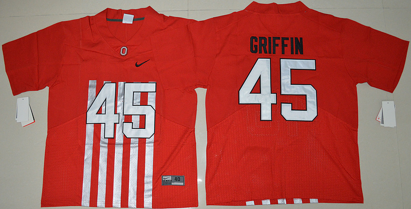 2016 NCAA Ohio State Buckeyes 45 Archie Griffin Red College Football Alternate Elite Jersey