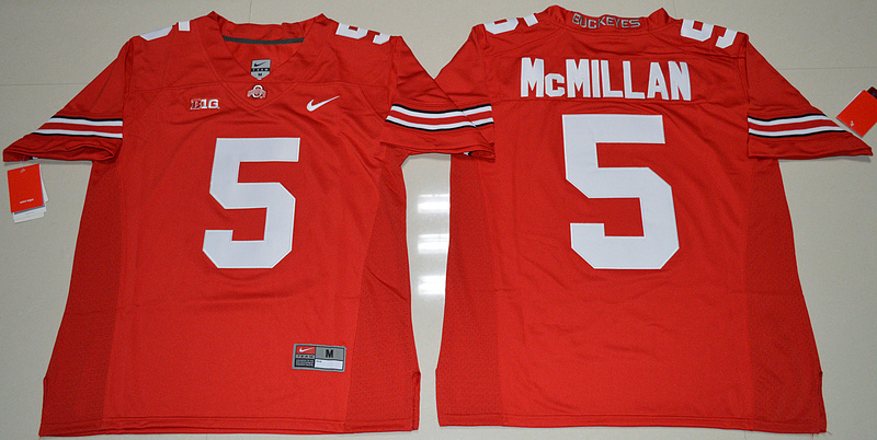 2016 NCAA Ohio State Buckeyes 5 Raekwon McMillan Red College Football Jersey