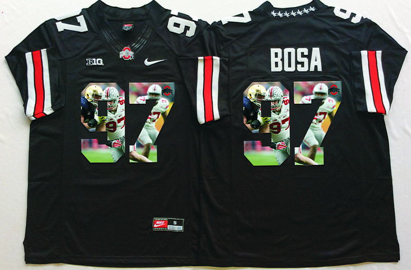 2016 NCAA Ohio State Buckeyes 97 Bosa Black Fashion Edition Jerseys