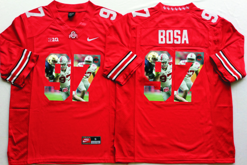2016 NCAA Ohio State Buckeyes 97 Bosa Red Fashion Edition Jerseys1