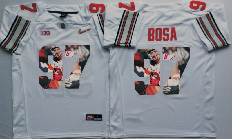 2016 NCAA Ohio State Buckeyes 97 Bosa White Fashion Edition Jerseys