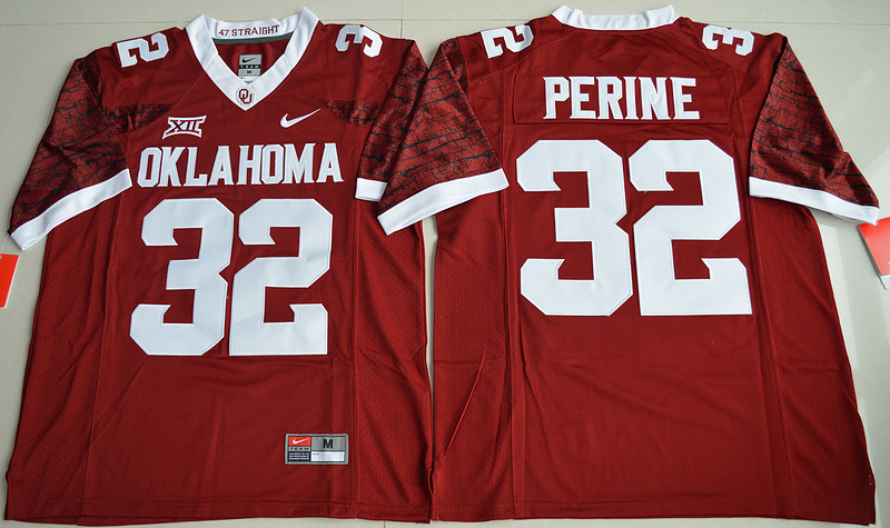 2016 NCAA Oklahoma Sooners 32 Samaje Perine Crimson College Limited Football Jersey