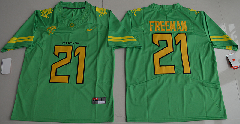 2016 NCAA Oregon Duck 21 Royce Freeman Apple Green College Football Electric Lightning Limited Jerseys