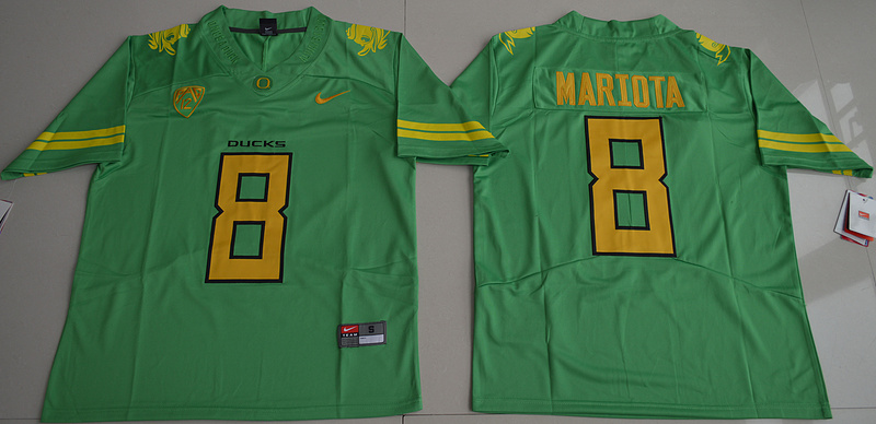 2016 NCAA Oregon Duck 8 Marcus Mariota Apple Green College Football Limited Jerseys