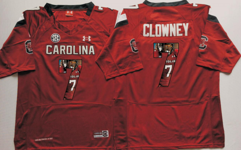 2016 NCAA South Carolina Gamecock 7 Clowney Red Fashion Edition Jerseys
