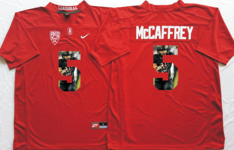 2016 NCAA Stanford Cardinals 5 Mccaffrey Red Fashion Edition Jerseys