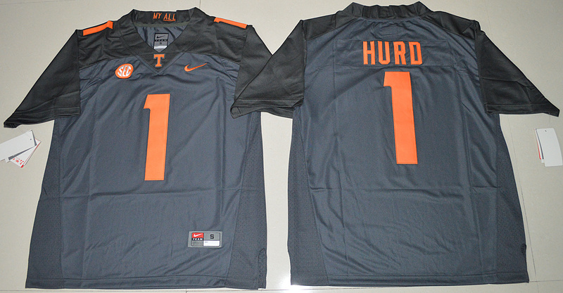 2016 NCAA Tennessee Volunteers 1 Jalen Hurd Grey College Football Limited Jersey