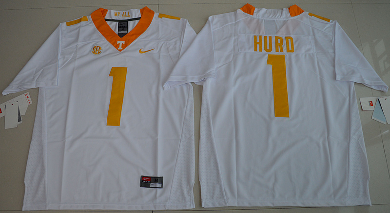 2016 NCAA Tennessee Volunteers 1 Jalen Hurd White College Football Limited Jersey