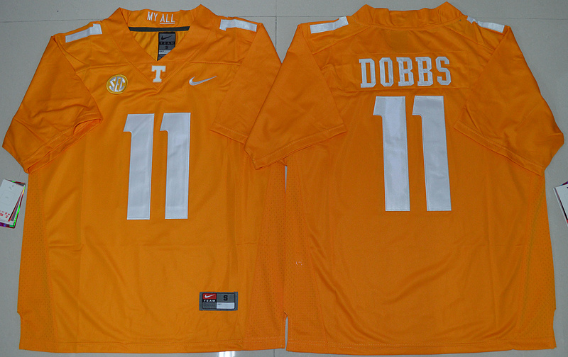 2016 NCAA Tennessee Volunteers 11 Joshua Dobbs Orange College Football Limited Jersey
