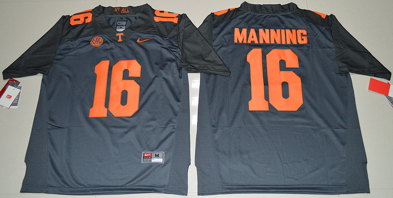 2016 NCAA Tennessee Volunteers 16 Peyton Manning Grey College Football Limited Jersey