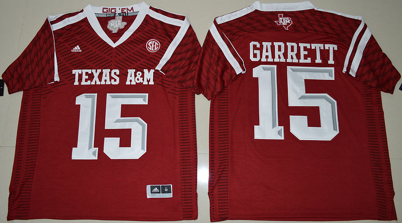 2016 NCAA Texas A&M Aggies 15 Myles Garrett Maroon College Football Authentic Jerseys