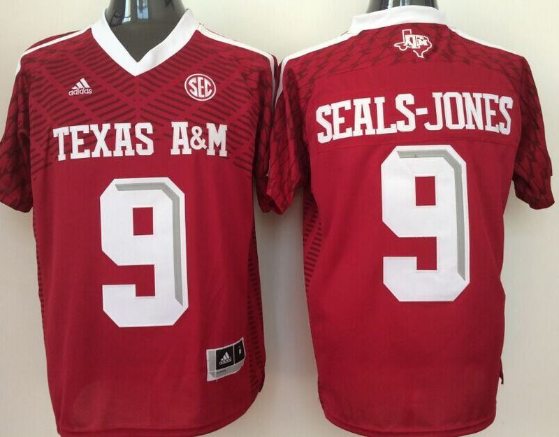 2016 NCAA Texas A&M Aggies 9 Seals-Jones red jerseys
