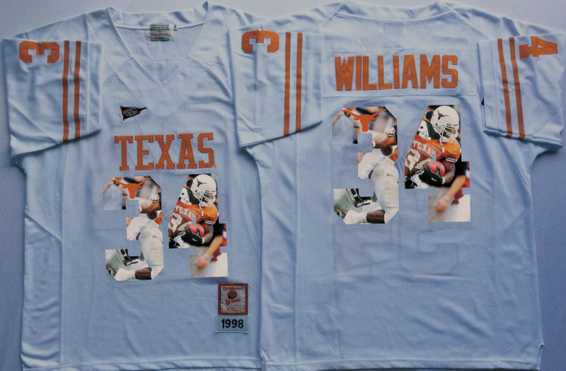 2016 NCAA Texas Longhorns 34 Williams White Fashion Edition Jerseys