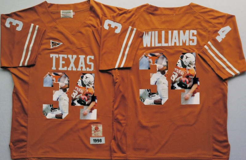 2016 NCAA Texas Longhorns 34 Williams Yellow Fashion Edition Jerseys