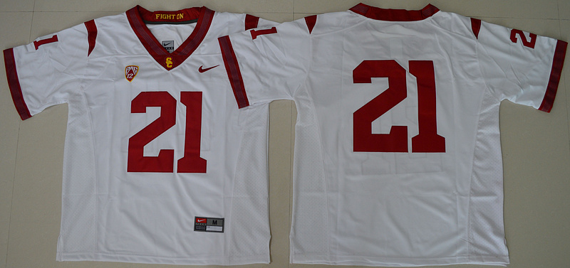 2016 NCAA USC Trojans 21 Adoree' Jackson White College Football Jersey