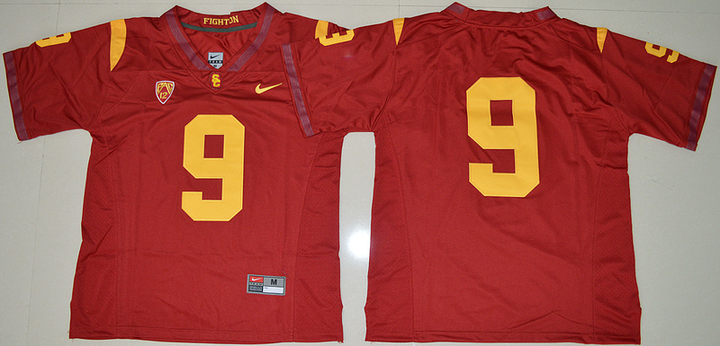 2016 NCAA USC Trojans 9 JuJu Smith-Schuster Red College Football Jersey