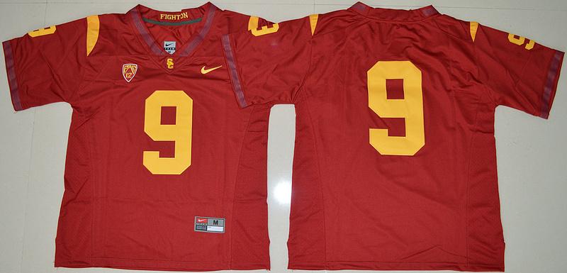 7a1127e9d 2016 NCAA USC Trojans 9 JuJu Smith-Schuster Red College Football Jersey