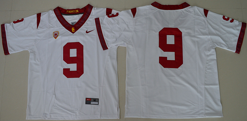 2016 NCAA USC Trojans 9 JuJu Smith-Schuster White College Football Jersey