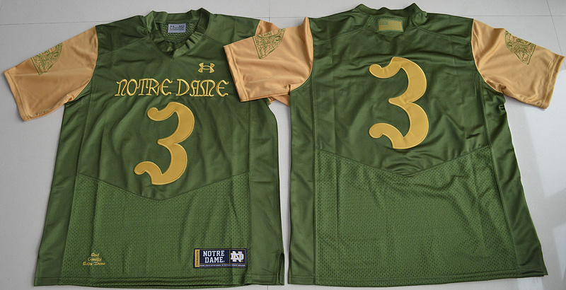 2016 NCAA Under Armour 3 Joe Montana Olive Green Notre Dame Fighting Irish 2016 Shamrock Series Premier College Football Jersey