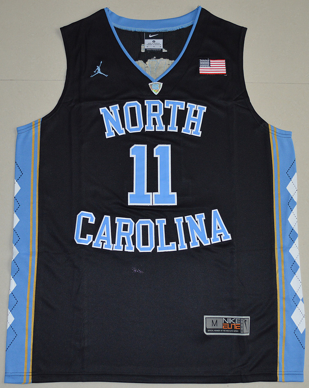 2016 North Carolina Tar Heels Brice Johnson 11 College Basketball Jersey - Black