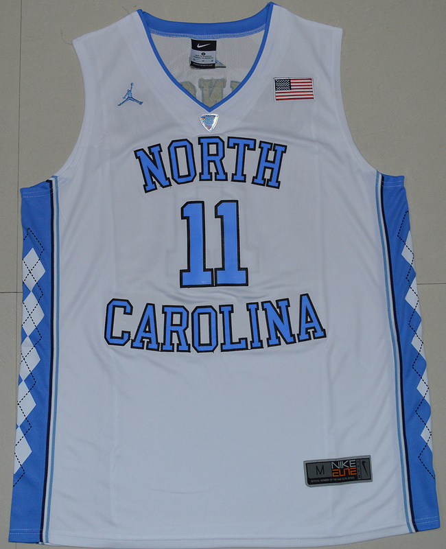 2016 North Carolina Tar Heels Brice Johnson 11 College Basketball Jersey - White