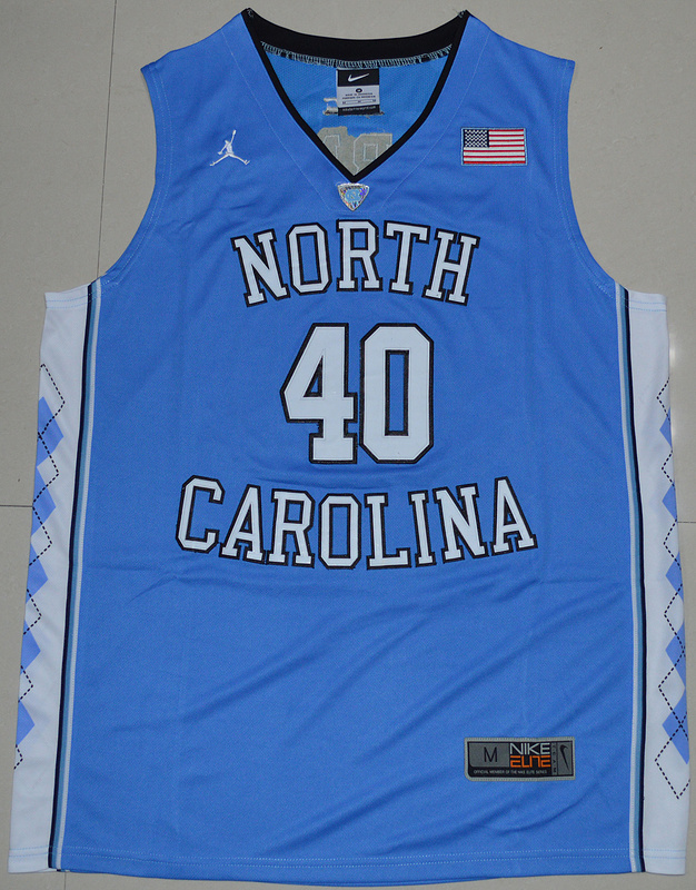 2016 North Carolina Tar Heels Harrison Barnes 40 College Basketball Jersey - Carolina Blue