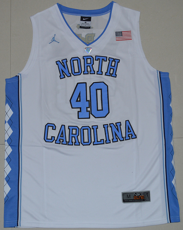 2016 North Carolina Tar Heels Harrison Barnes 40 College Basketball Jersey - White
