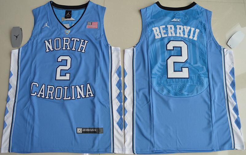 406bb539c23 2016 North Carolina Tar Heels Joel Berry II 2 College Basketball Blue Jersey