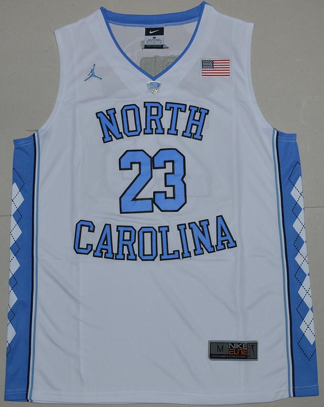 0d2895c6c81882 2016 North Carolina Tar Heels Michael Jordan 23 College Basketball Jersey -  White