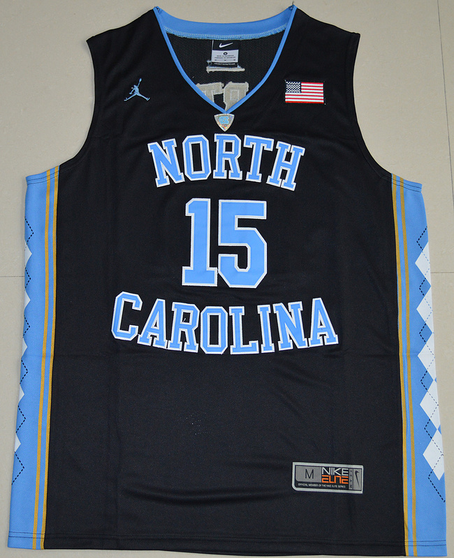 2016 North Carolina Tar Heels Vince Carter 15 College Basketball Jersey - Black