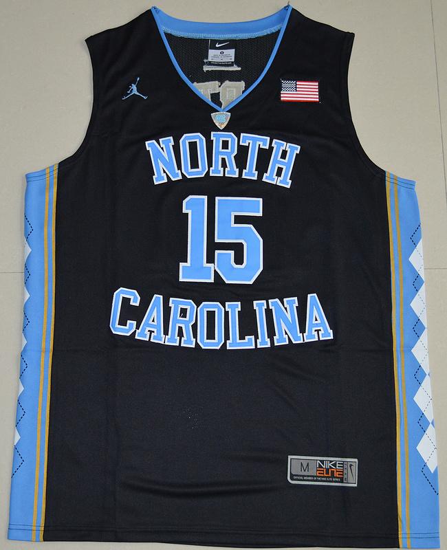 1ca9d8d5744f50 2016 North Carolina Tar Heels Vince Carter 15 College Basketball Jersey -  Black