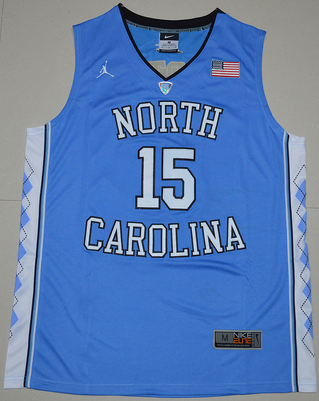 2016 North Carolina Tar Heels Vince Carter 15 College Basketball Jersey - Carolina Blue