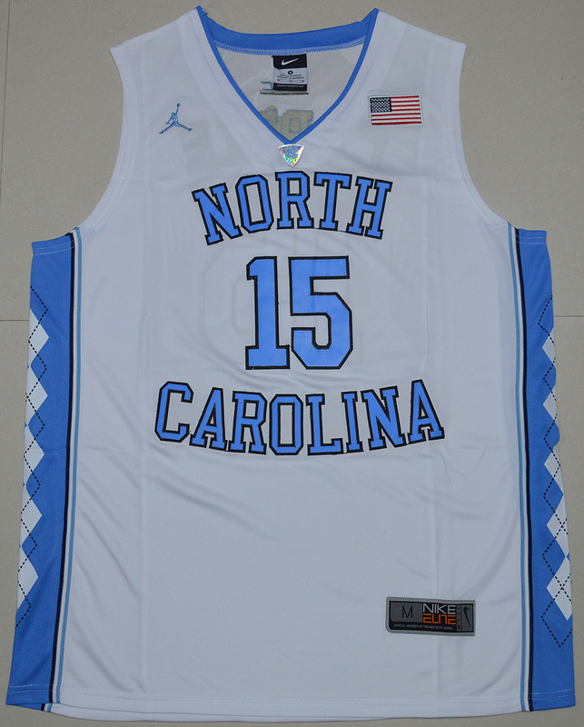 2016 North Carolina Tar Heels Vince Carter 15 College Basketball Jersey - White