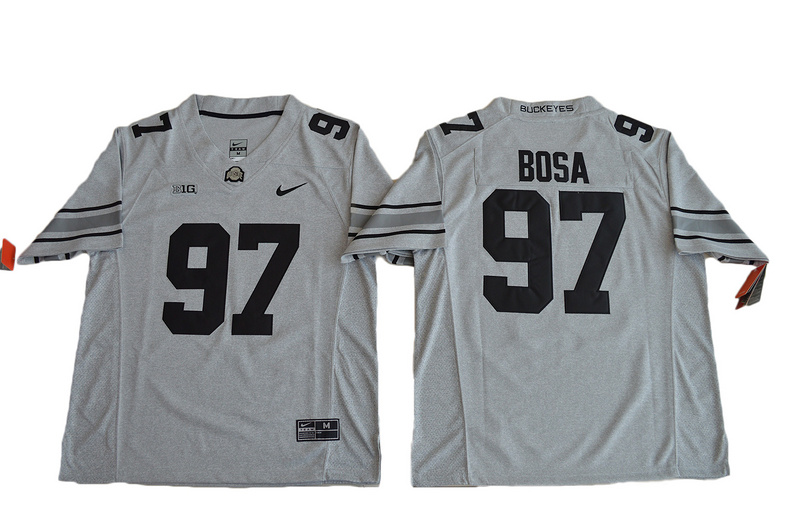 2016 Ohio State Buckeyes 97 Joey Bosa College Football Jersey Gridion Grey II