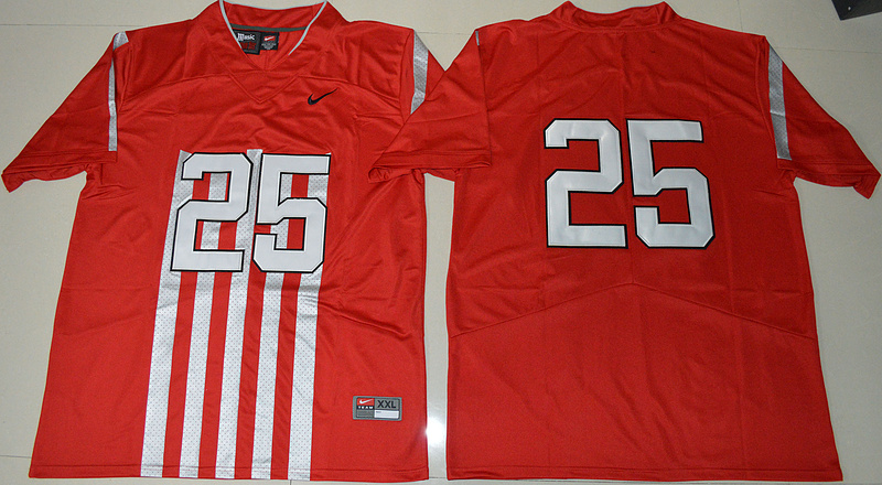 2016 Ohio State Buckeyes Mike Weber Jr. 25 College Football 1917 Throwback Limited Red Jersey