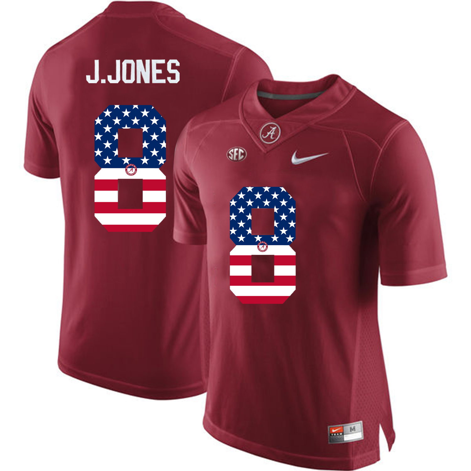 2016 US Flag Fashion Alabama Crimson Tide Julio Jones 8 College Football Limited Jersey Crimson