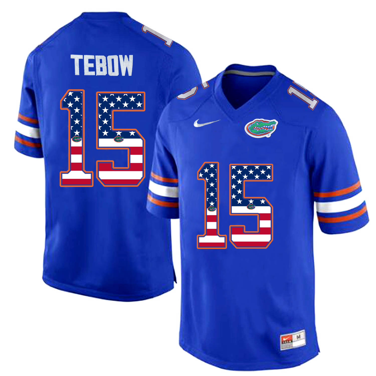 2016 US Flag Fashion Florida Gators Tim Tebow 15 College Football Jersey Royal Blue