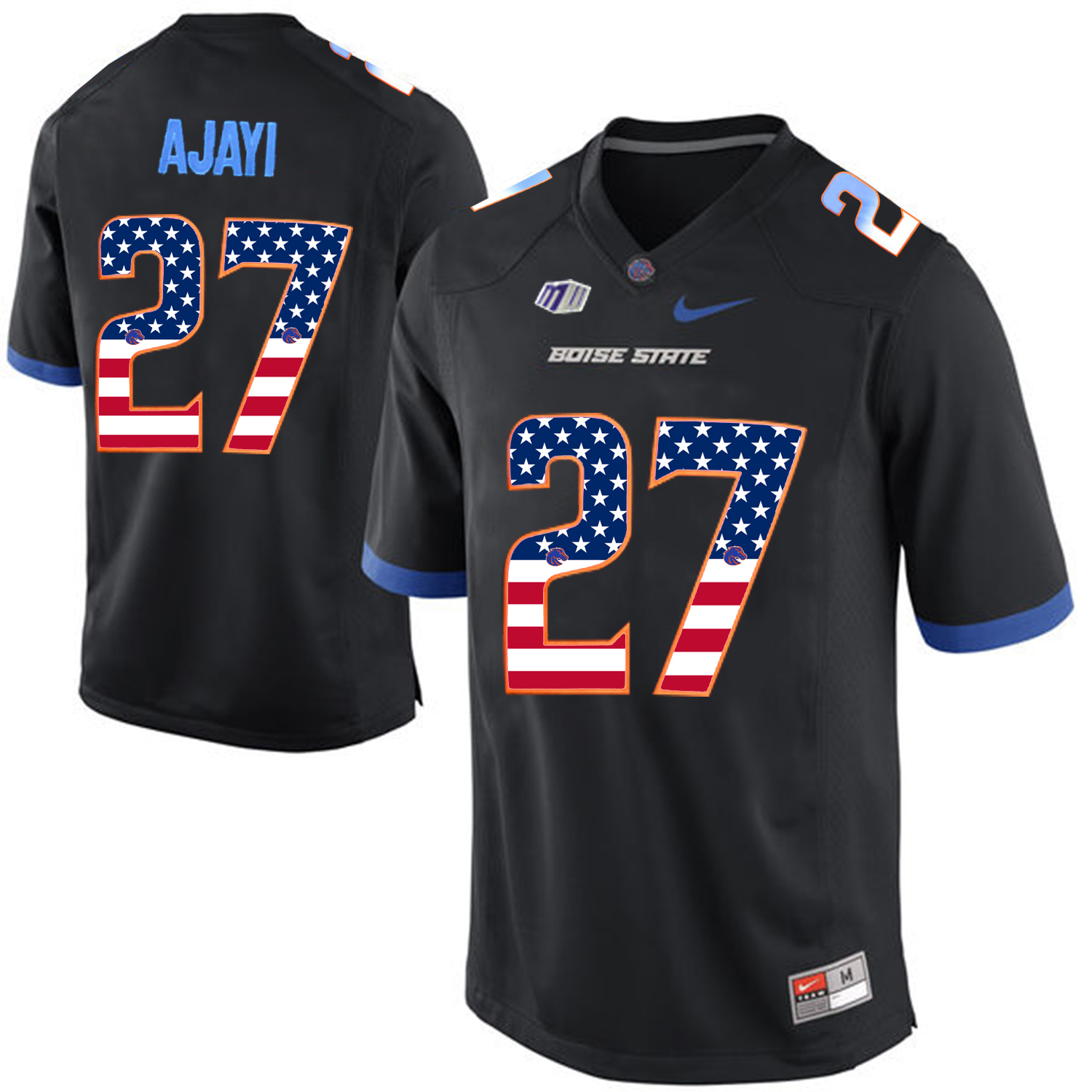 2016 US Flag Fashion Men Boise State Broncos Jay Ajayi 27 College Football Jerseys Black