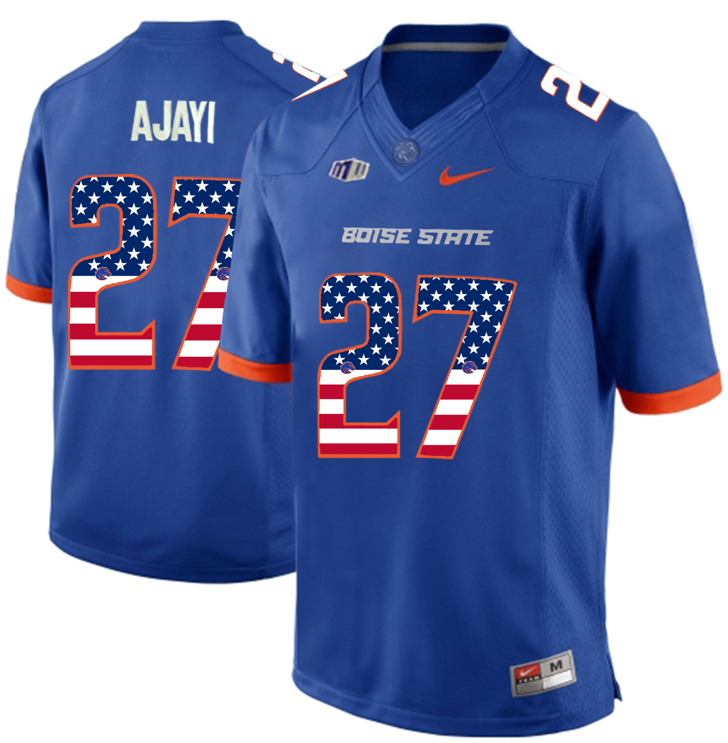 2016 US Flag Fashion Men Boise State Broncos Jay Ajayi 27 College Football Jerseys Blue