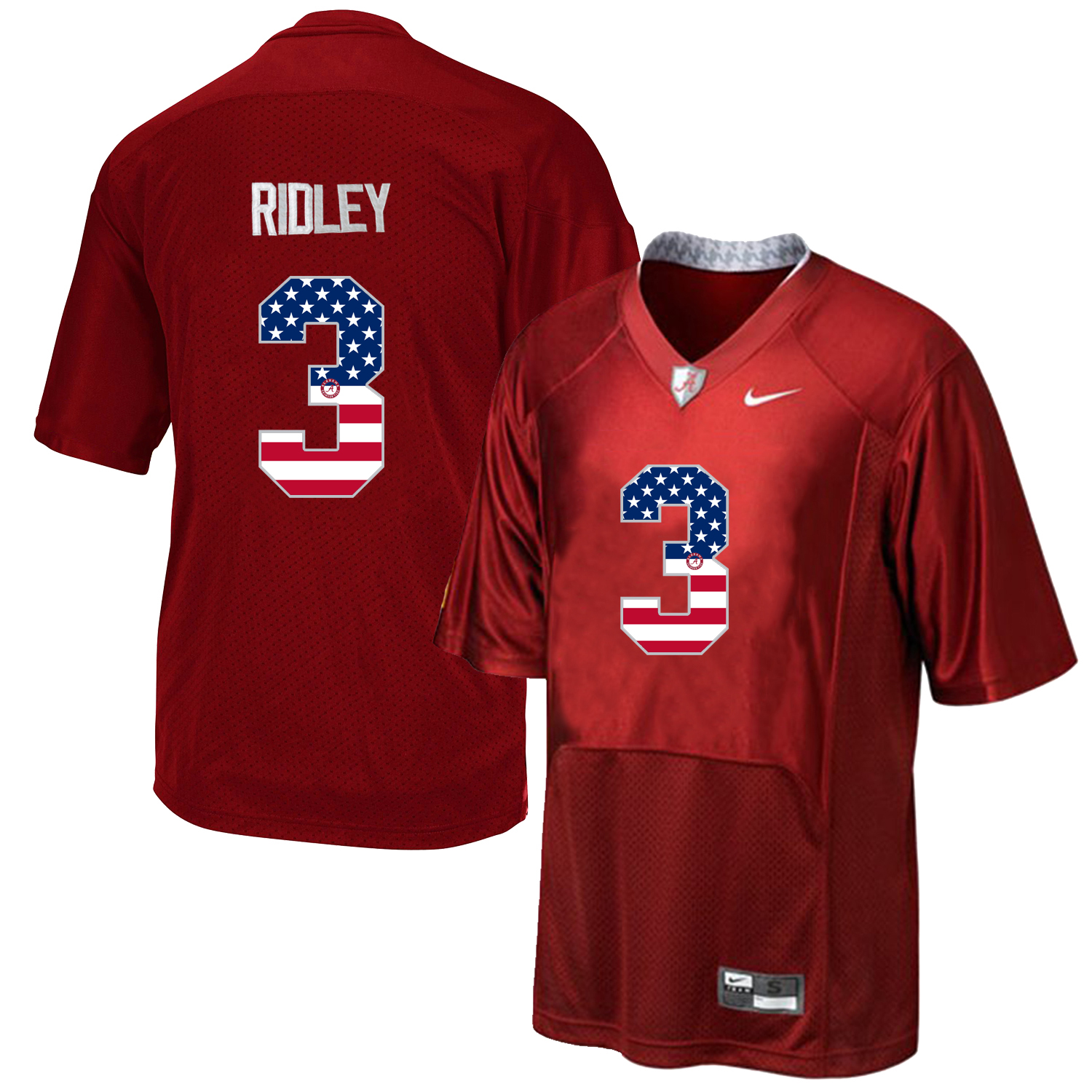 2016 US Flag Fashion Men's Alabama Crimson Tide Calvin Ridley 3 College Football Pro Combat Jersey Crimson