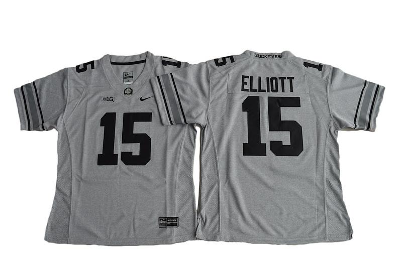 2016 Women Ohio State Buckeyes Ezekiel Elliott 15 College Football Jersey -  Gridion Grey II f8d1e0edd