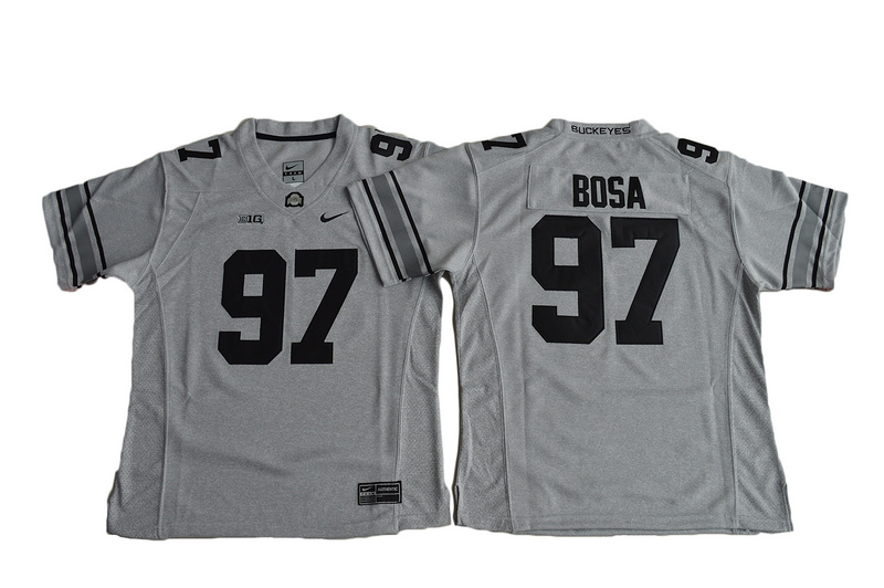 2016 Women Ohio State Buckeyes Joey Bosa 97 College Football Jersey - Gridion Grey