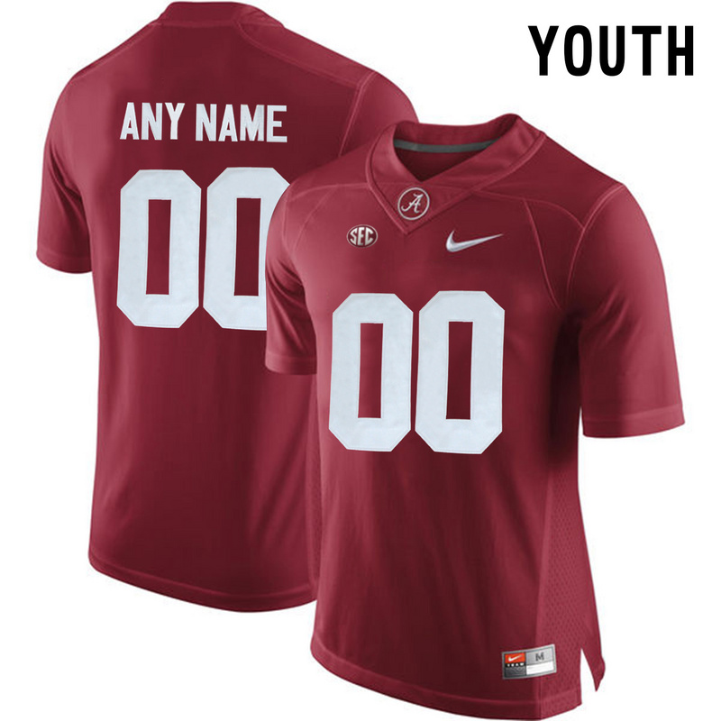 2016 Youth Alabama Crimson Tide Customize College Football Limited Jersey Crimson